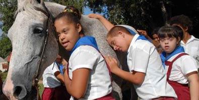 Niños con síndrome de Down. Imagen: Juventud Rebelde