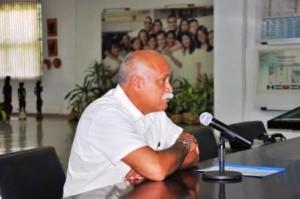Rector de la ELAM Dr. Rafael González Ponce de León