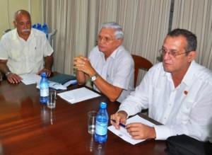 Presidencia SCC y Rector de la ELAM