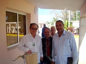 Dres. Eduardo Molina, Jorge E. López, Carlos Romero