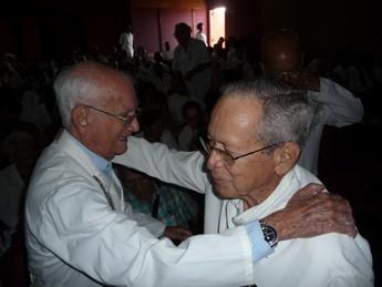 Prof. Gilberto Pardo Gómez y prof. Manuel Fuentes Rodríguez