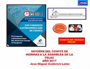Informe del Comité de Hernias