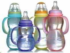 Biberones de plastico