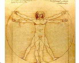 Hombre de Vitruvio que utilizó Da Vinci