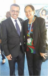 El Dr. Tedros Adhanon Ghebreyesus y la Sra. Elizabeth Iro