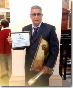 Premio a la mejor Tesis Doctoral en Ciencias Biomédicas, otorgado al Prof. Reinaldo López Barroso, del Hosp. santiaguero General Juan Bruno Zayas