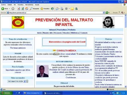 PREVEMI, en su primera versión de ftp en Infomed