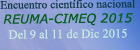 ENCUENTRO CIENTÍFICO NACIONAL REUMA-CIMEQ 2015. DEL 9 AL 11 DE DICIEMBRE DE 2015