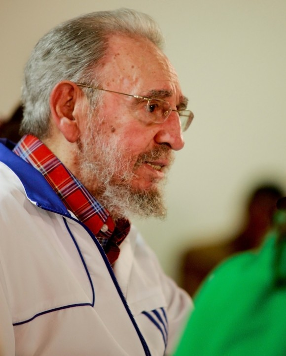 Fidel con los estudiantes universitarios