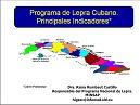 Programa de lepra cubano. Principales indicadores