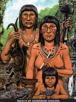 Aborígenes taínos cubanos. Imagen: Wikipedia
