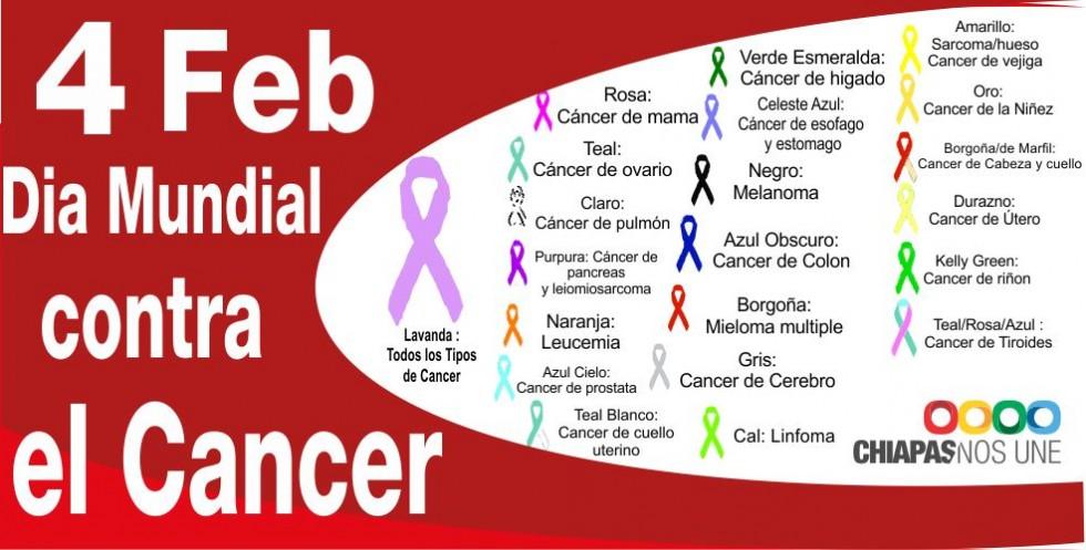 Día Mundial del Cáncer 2013. El cáncer ys sus colores