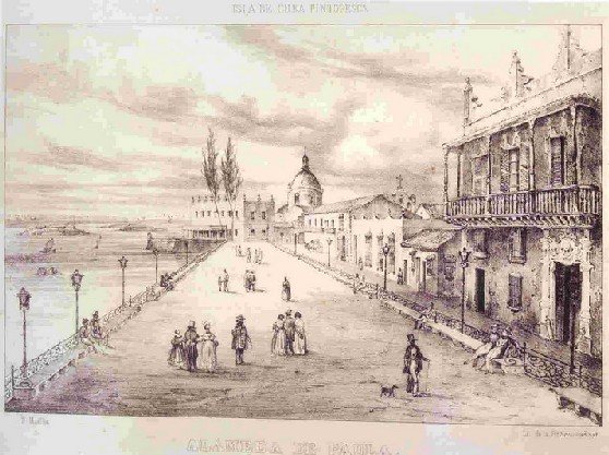 Alameda de Paula durante la colonia. Imagen: Galeria Cubarte