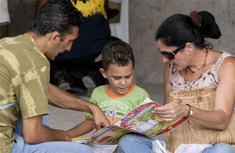 Familia cubana. Imagen: Periódico Juventud Rebelde