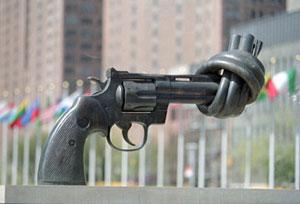 Escultura contra la violencia