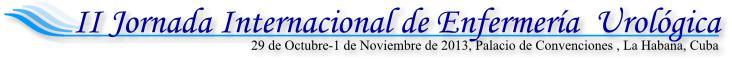 II Jornada Internacional de Enfermería Urológica